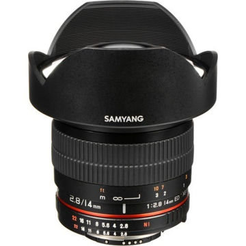 buy Samyang 14mm Ultra Wide-Angle f/2.8 IF ED UMC Lens for Nikon with Focus Confirm Chip in India imastudent.com