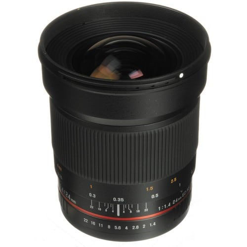 buy Samyang 24mm f/1.4 ED AS UMC Wide-Angle Lens for Canon in India imastudent.com