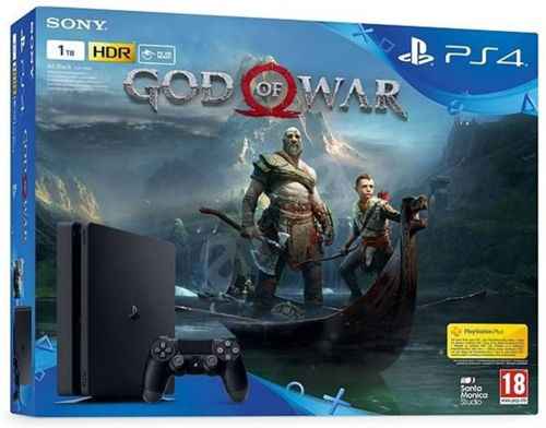 buy Sony PlayStation 4 (PS4) Slim Console 1TB GB with GOD OF WAR