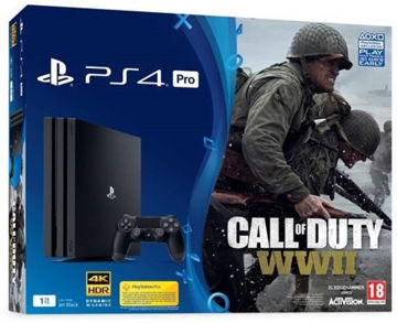 Sony PlayStation PS4 PRO 1TB Gaming Console with Call of Duty WW2