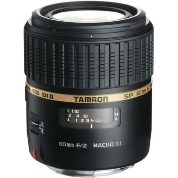 Tamron SP 60mm f/2 Di II 1:1 Macro Lens for Nikon F price in india features reviews specs