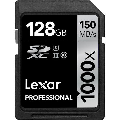 buy Lexar 128GB Professional 1000x UHS-II SDXC Memory Card (Class 10, UHS Speed Class 3) in India imastudent.com