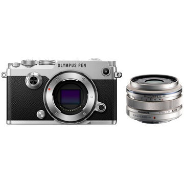 Olympus PEN-F Mirrorless Micro Four Thirds Digital Camera with 17mm Lens Kit (Silver) price in india features reviews specs