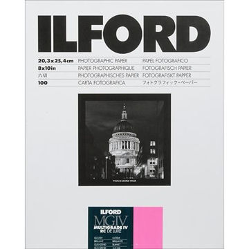 "buy Ilford Multigrade IV RC DeLuxe Paper (Glossy, 8 x 10"", 100 Sheets) in India imastudent.com"