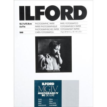 "buy Ilford Multigrade IV RC DeLuxe Paper (Pearl, 5 x 7"", 100 Sheets) in India imastudent.com"
