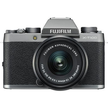 buy FUJIFILM X-T100 Mirrorless Digital Camera with 15-45mm Lens (Dark Silver) in India imastudent.com