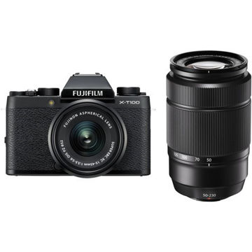 buy FUJIFILM X-T100 Camera with 15-45mm and 50-230mm Lens Kit (Black) in India imastudent.com