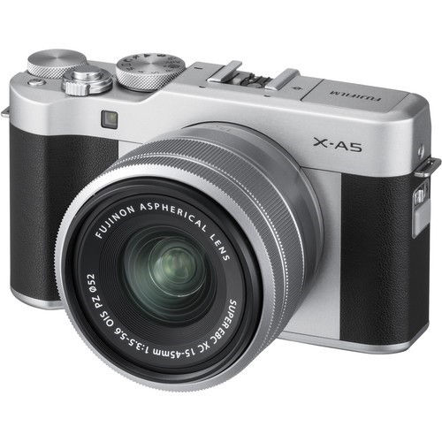buy FUJIFILM X-A5 Mirrorless Digital Camera with 15-45mm Lens (Silver) in India imastudent.com