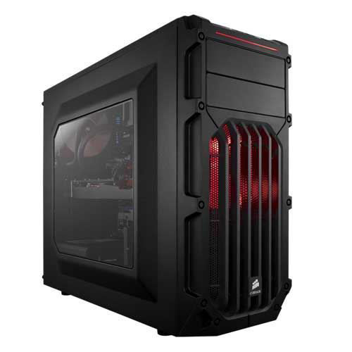 CORSAIR CARBIDE SERIES SPEC-03 RED LED MID-TOWER GAMING CABINET - CC-9011052-WW price in india features reviews specs