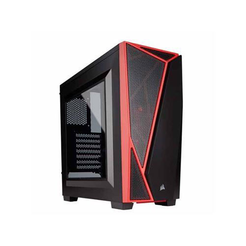 CORSAIR CARBIDE SERIES SPEC-04 MID-TOWER GAMING CASE(BLACK-RED)- CC-9011107-WW price in india features reviews specs