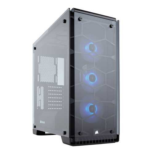 CORSAIR CRYSTAL SERIES 570X RGB ATX MID-TOWER CASE - CC-9011098-WW price in india features reviews specs