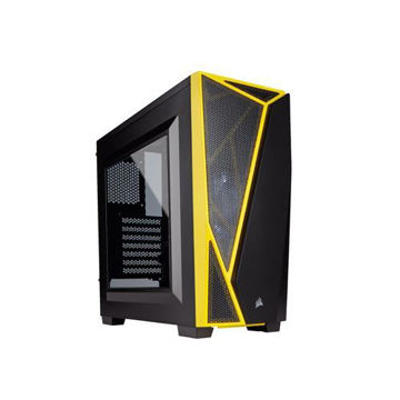 CORSAIR CARBIDE SERIES SPEC-04 MID-TOWER GAMING CASE(BLACK-YELLOW) - CC-9011108-WW price in india features reviews specs