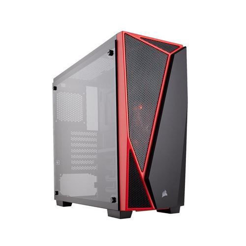CORSAIR CARBIDE SPEC-04 MID-TOWER GAMING CASE (BLACK-RED) - CC-9011117-WW price in india features reviews specs