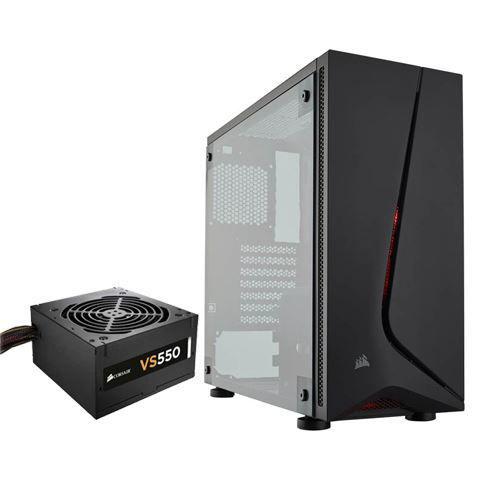 CORSAIR CARBIDE SPEC-05 BLACK MID TOWER GAMING CASE with VS650 SMPS - CC-9011138-WW price in india features reviews specs