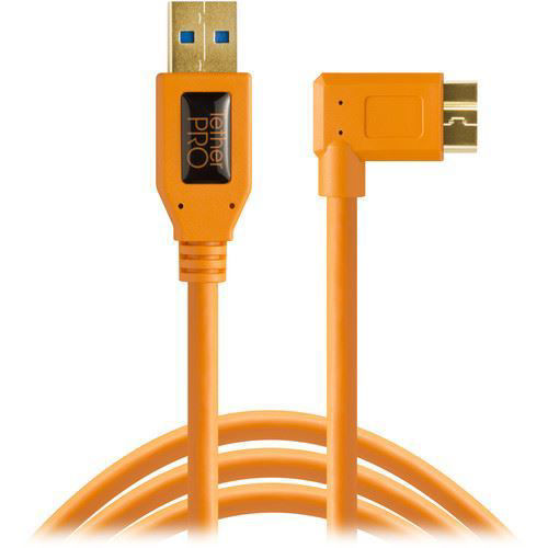 buy Tether Tools USB 3.0 Type-A Male to Micro-USB Right-Angle Male Cable (15', Orange) in India imastudent.com