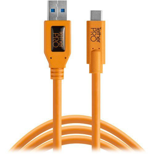 buy Tether Tools TetherPro USB Type-C Male to USB 3.0 Type-A Male Cable (15', Orange) in India imastudent.com
