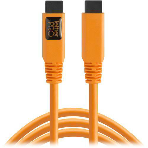 buy Tether Tools TetherPro FireWire 800 9-Pin to FireWire 800 9-Pin Cable (Orange, 15') in India imastudent.com