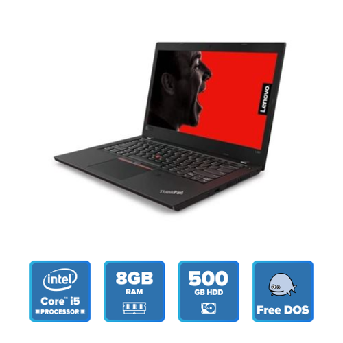 Lenovo ThinkPad L480 - i5 DOS 8GB 500GB HDD (Black) 20LSS0NA00