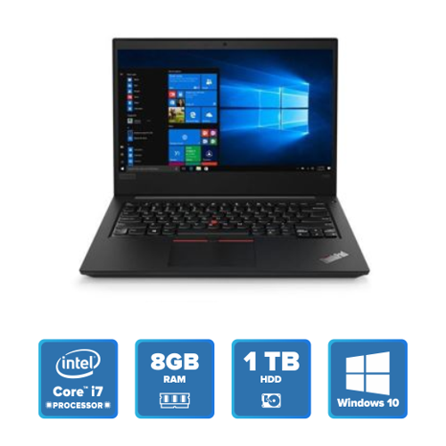 Lenovo ThinkPad E480 - i7 Win 10 8GB 1TB HDD (Black) 20KNS0DM00 rice in india features reviews specs