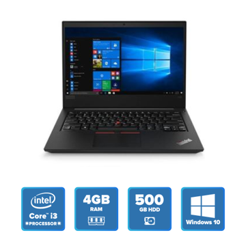 Lenovo ThinkPad E480 - i3 Win 10 4GB 500GB HDD (Black) 20KNS0R500 price in india features reviews specs