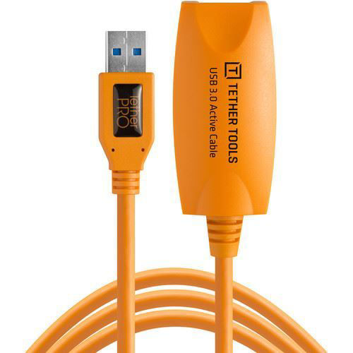 buy Tether Tools TetherPro USB 3.0 Active Extension Cable (Hi-Visibility Orange, 16') in India imastudent.com