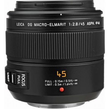 buy Panasonic Leica DG Macro-Elmarit 45mm f/2.8 ASPH. MEGA O.I.S. Lens in India imastudent.com