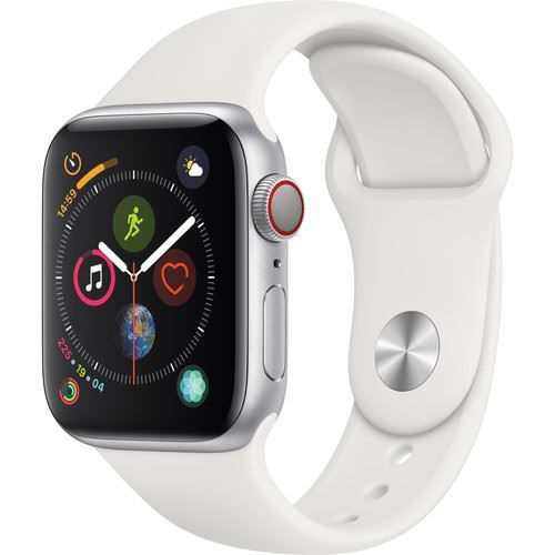 Apple Watch Series 4 (GPS Only, 40mm, Silver Aluminum, White Sport Band) price in india features reviews specs