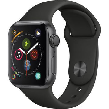 Apple Watch Series 4 (GPS Only, 40mm, Space Gray Aluminum, Black Sport Band) price in india features reviews specs
