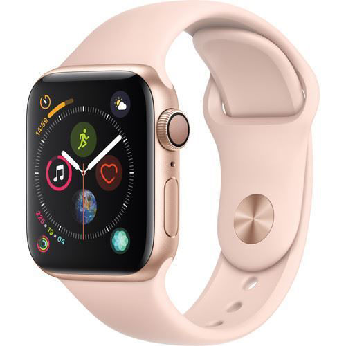 Apple Watch Series 4 (GPS Only, 40mm, Gold Aluminum, Pink Sand Sport Band) price in india features reviews specs