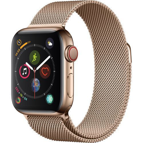 Apple Watch Series 4 (GPS + Cellular, 40mm, Gold Stainless Steel, Gold Milanese Loop) price in india features reviews specs
