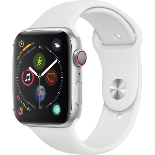 Apple Watch Series 4 (GPS + Cellular, 44mm, Silver Aluminum, White Sport Band) price in india features reviews specs