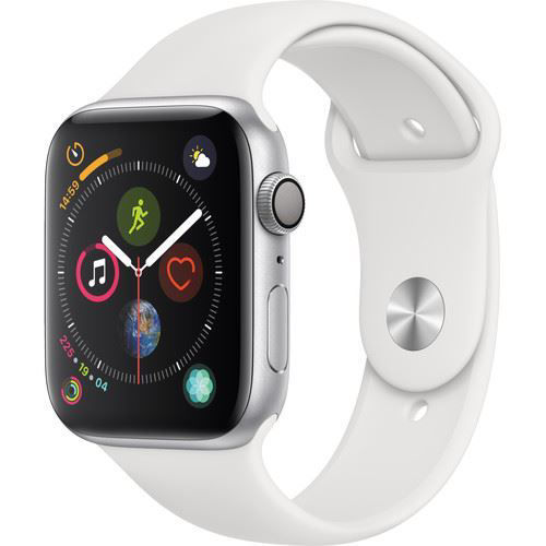 Apple Watch Series 4 (GPS Only, 44mm, Silver Aluminum, White Sport Band) price in india features reviews specs