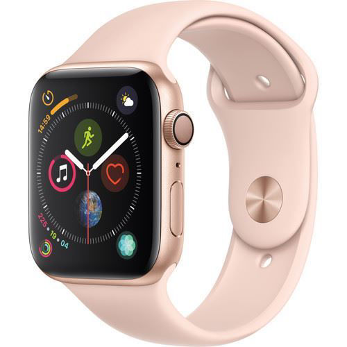 Apple Watch Series 4 (GPS Only, 44mm, Gold Aluminum, Pink Sand Sport Band) price in india features reviews specs