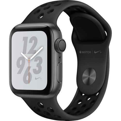 Apple Watch Series 4 (GPS Only, 40mm, Space Gray Aluminum, Anthracite/Black Nike Sport Band) price in india features reviews specs
