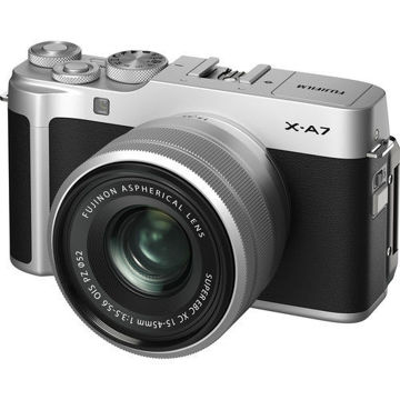 FUJIFILM X-A7 Mirrorless Digital Camera with 15-45mm Lens (Silver) in India imastudent.com
