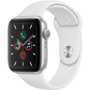Buy Apple Watch Series 5 GPS Only Silver Aluminium & White Sport Band
