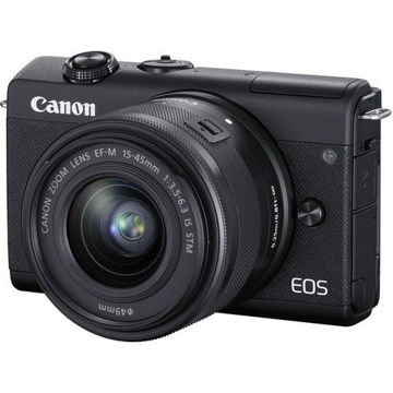 buy Canon EOS M200 Mirrorless Digital Camera with 15-45mm Lens (Black) in india imastudent.com