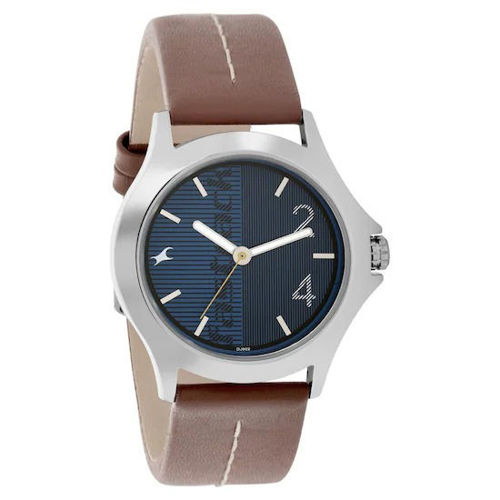 Fastrack BLUE DIAL LEATHER STRAP WATCH - 3220SL01 price in india features reviews specs