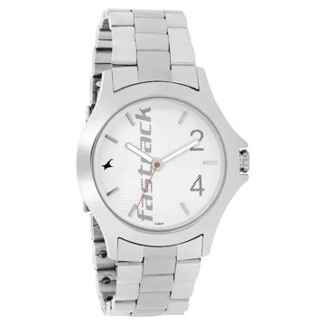 Fastrack SILVER DIAL STAINLESS STEEL STRAP WATCH - 3220SM01 price in india features reviews specs