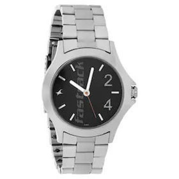 Fastrack BLACK DIAL STAINLESS STEEL STRAP WATCH - 3220SM02 price in india features reviews specs