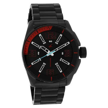 Fastrack BLACK DIAL STAINLESS STEEL STRAP WATCH - 3089NM02 price in india features reviews specs