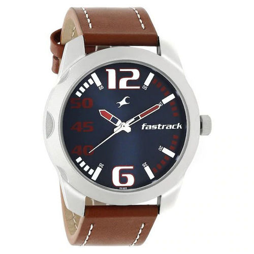 Fastrack BLUE DIAL STAINLESS STEEL STRAP WATCH - 3123SL05 price in india features reviews specs