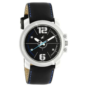 Fastrack BLACK DIAL LEATHER STRAP WATCH - 3039SL09 price in india features reviews specs