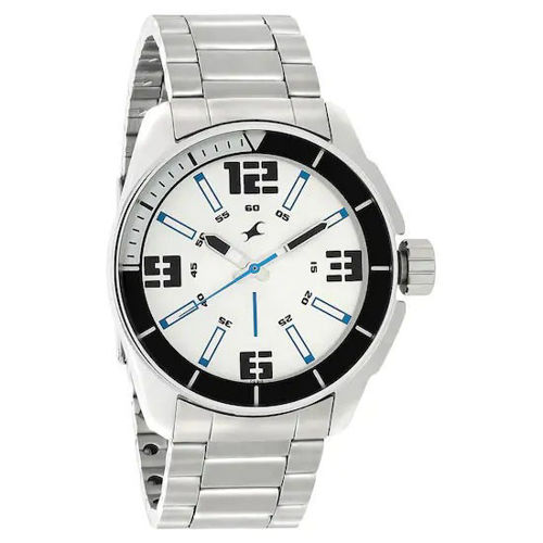 Fastrack SILVER DIAL STAINLESS STEEL STRAP WATCH - 3089SM08 price in india features reviews specs