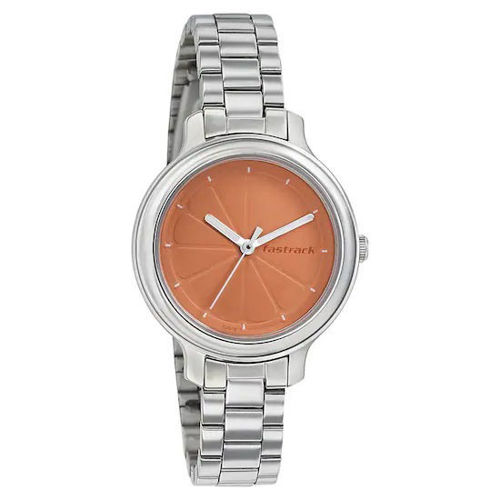 Fastrack ORANGE DIAL STAINLESS STEEL STRAP WATCH 6202SM01 price in india features reviews specs