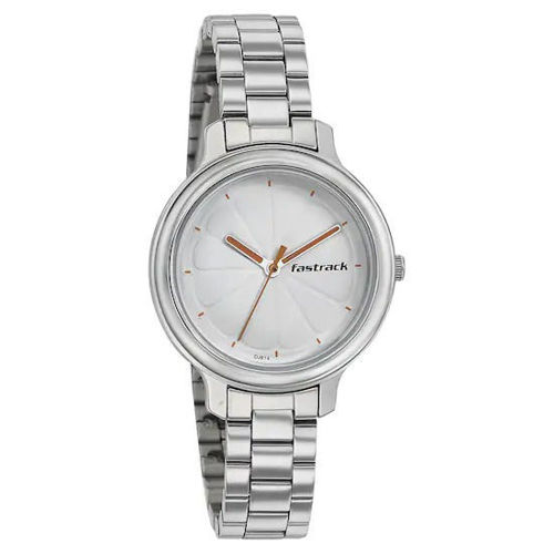 Fastrack WHITE DIAL STAINLESS STEEL STRAP WATCH 6202SM02  price in india features reviews specs