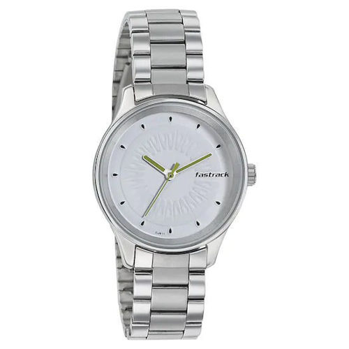 Fastrack WHITE DIAL STAINLESS STEEL STRAP WATCH 6203SM01 price in india features reviews specs