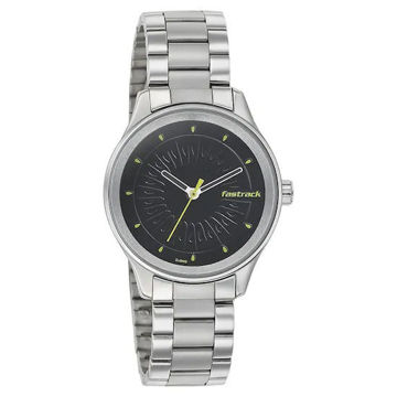 Fastrack BLACK DIAL STAINLESS STEEL STRAP WATCH 6203SM02  price in india features reviews specs
