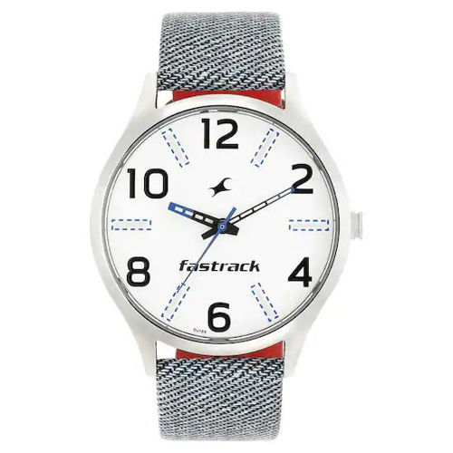 Fastrack WHITE DIAL BLUE LEATHER STRAP WATCH - 3184SL01 price in india features reviews specs