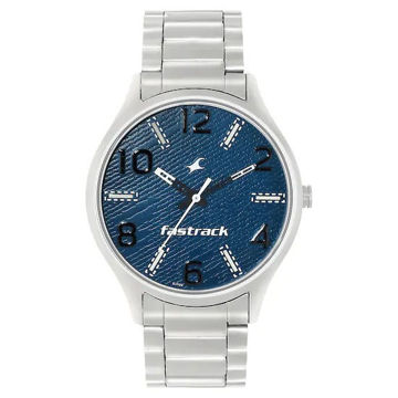 Fastrack BLUE DIAL SILVER STAINLESS STEEL STRAP WATCH - 3184SM01 price in india features reviews specs